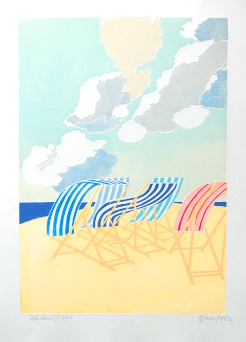 Print of Deckchairs III