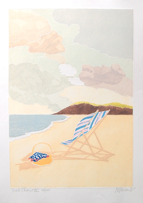 Print of Deckchairs IV