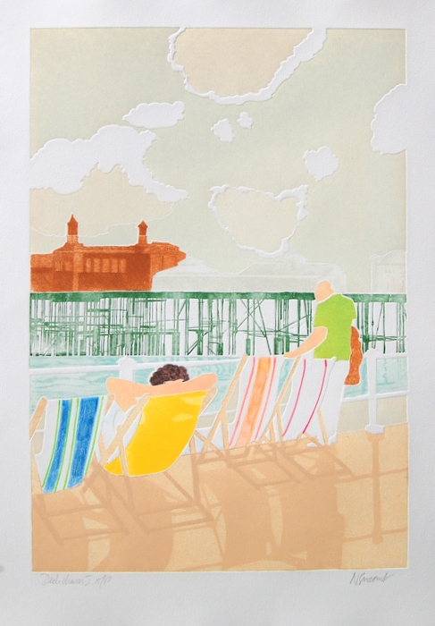 Print of Deckchairs I