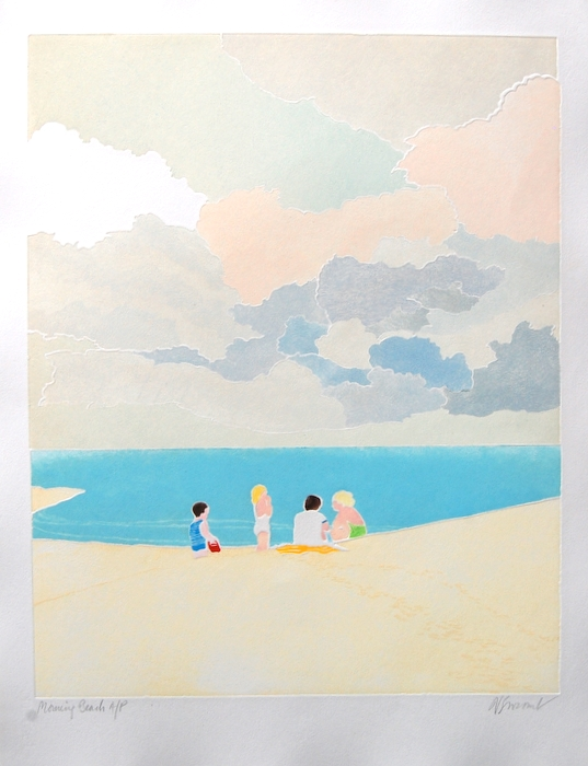 Print of Morning Beach