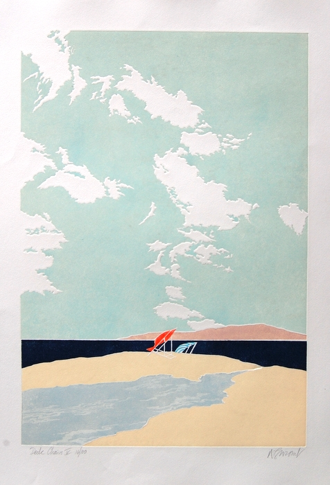 Print of Deckchairs V