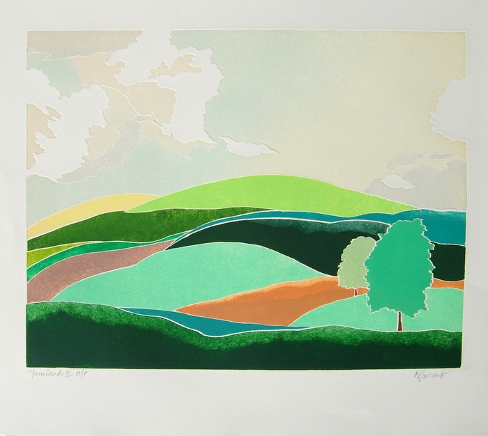 Print of Farmlands V