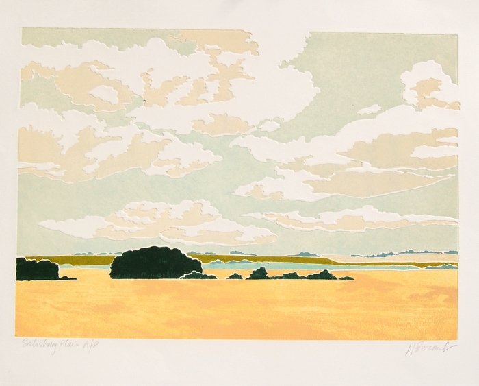 Print of Salisbury Plain